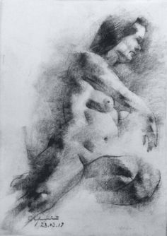 Sketch of 15 min. by artist Serhiy Sledz