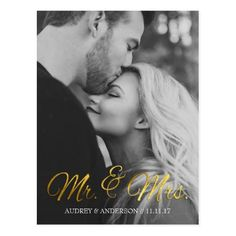 Gold Foil Save the Date Wedding Cards Gold Foil Save the Date Postcard