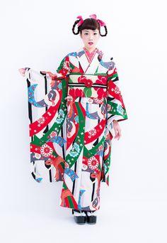 京都 モダンアンテナ工房日記 -11ページ目 Kimono Japan, Yukata Kimono, Japanese Kimono, Japanese Geisha, Traditional Kimono, Traditional Dresses, Kimono Fashion, Ethnic Fashion, Chinese Clothing