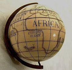 Antique Scrimshaw Globe.