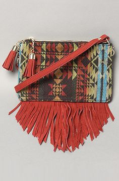 Two of my favorite things, a small side bag with a lovely Navajo pattern. Yes please.