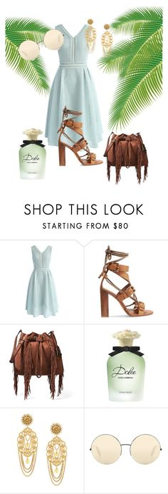 """""""lovely green"""" by sofiacalo ❤ liked on Polyvore featuring Chicwish, Etro, Diane Von Furstenberg, Dolce&Gabbana and Victoria Beckham"""