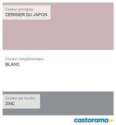 Castorama Nuancier Peinture - Mon harmonie Peinture  CERISIER DU JAPON satin de TOLLENS Cuisine & salle de bains Colour Pallete, Color Combos, Wall Colors, House Colors, Molding Ceiling, Dubai Houses, Roomspiration, Interior Paint Colors, House Painting