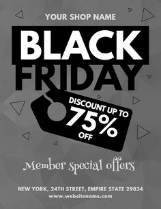 a6b26252ba Black friday sale flyer design template - Monotone Flyer Design Templates