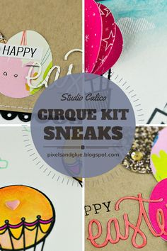 Studio Calico Cirque Card Kit Sneaks by @pixnglue #studiocalico #cardmaking #SCcirque