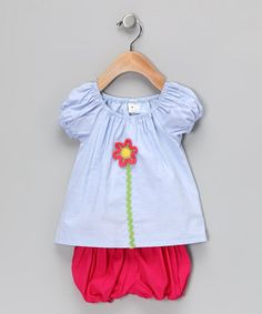 Take a look at this Blue Peasant Top & Bloomers - Infant & Toddler by Green Pomegranate on #zulily today!