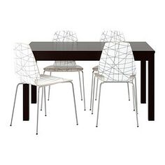 IKEA - BJURSTA / VILMAR, Table and 4 chairs, Extendable dining table with 2…