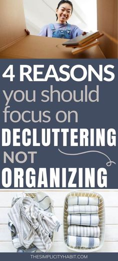 4 reasons why you should be focusing on decluttering your home instead of organizing it. These practical decluttering tips will help you to have long lasting results in your home! #declutter #organize #simplify Time Management Activities, Time Management Strategies, Declutter Your Home, Organizing Your Home, Pantry Organization, Planner Organization, Time Management Techniques, Home Instead, Simple Living