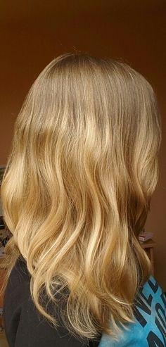 My hair after using Kallos Algae hair mask ❤