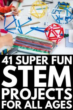 From elementary school to middle school to high school, we've rounded up 41 STEM projects and activities for kids of all ages! 41 STEM Projects for Kids of All Ages Stem Projects For Kids, Stem For Kids, School Projects, Middle School Science Projects, Middle School Crafts, School Ideas, Project For Kids, Science Classroom Middle School, Art Projects
