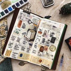 """11 Likes, 1 Comments - Heather Zhang.张宇征 (@heaaaather_zhang) on Instagram: """"做了一回像样的月计划 #journal #planner #daily #stickers #stamp #sticker #watercolor #art #artjournal…"""""""