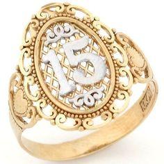 15 Anos Quinceanera Filigree Ring