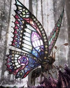 The Gothic Butterfly - David Aguirre Hoffman #steampunktendencies #steampunk #art #gothic #butterfly