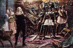 Cromwell's soldiers breaking into the house of a Cavalier