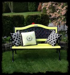 I think I might use yellow for our bench when I redo it