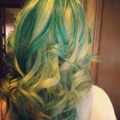 Green Aqua Hair