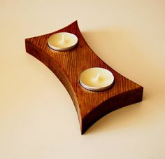 Handmade candle holder. Made of pinewood. Made by S.M.Art.