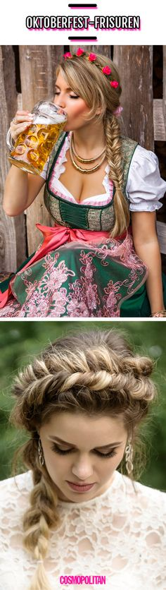"With these hairstyles, you'll be a ""nice"" eye-catcher at the Oktoberfest. Dirndl Frisuren – Frisuren für lange Haare Mia san Tracht With these hairstyles, you'll be a ""nice"" eye-catcher at the Oktoberfest. Braided Hairstyles Tutorials, Quick Hairstyles, Party Hairstyles, Afro Hairstyles, Oktoberfest Hair, Hairstyle Bridesmaid, Medium Hair Styles, Curly Hair Styles, Afro Hair Care"