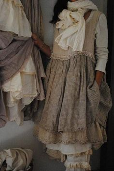 love the flax colored linen dress but not the bloomers so much...