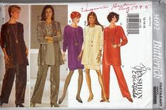 Burda Sewing Pattern Number 4461 Dress, Skirt, Tunic