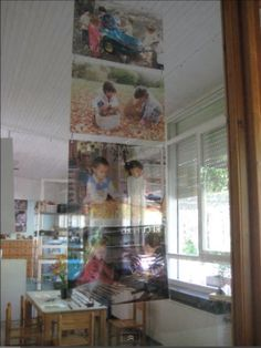 Try photocopying onto transparencies for pictures of child for windows