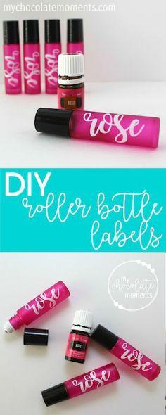DIY essential oil roller bottle labels with vinyl   Silhouette   cricut