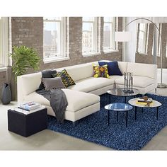 cielo II 4-piece sectional sofa - Ivory | CB2. Nice color palette!