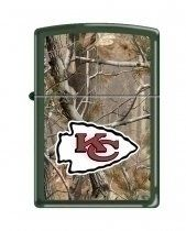 Kansas City Chiefs NFL Realtree Camo Zippo Lighter by Zippo. $37.49. Get fired up and support your team with this official Kansas City Chiefs Real Tree Camo NFL Zippo windproof lighter. This special edition lighter combines your teams official NFL logo over a Realtree camo design. This is the latest version zippo lighter.