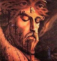 """Résultat de recherche d'images pour """"jesus optical illusion tattoo"""""""