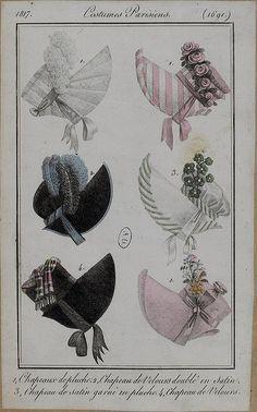 Bonnets, 1817 costume parisien