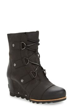 chic combat wedge snow boots