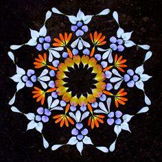 Lo efímero de la naturaleza en mandalas de flores (FOTOS)  Ecoosfera