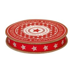 GreenGate Ribbon Red With Silver Star 10 mm x 5 m | NEW! GreenGate Autumn/Winter 2014 | Originated-Shop