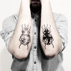 Illustrative tattoo artist Sollefe specializes in black ink body art.