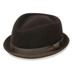 edbe7c316eb Smitty Felt Fedora Hat Black American Made Front View