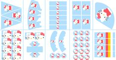 Postreadicción galletas decoradas, cupcakes y pops: Imprimible gratis: kit de fiesta de Hello Kitty