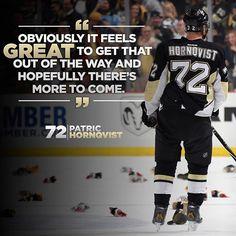 #Pens Patric Hornqvist on his Hatty! #ARIvsPIT #LetsGoPens