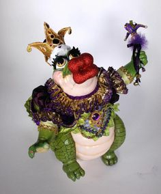 katherine's collection Captain Bayou Gator doll Mardi Gras King jester LAST new