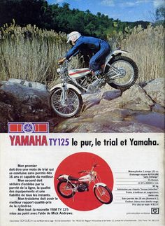 Les 125 yamaha : YZ DTMX TY DT... et les vôtres ! / Le Guide Vert Yamaha 250, Yamaha Bikes, Cool Motorcycles, Motos Trial, Trail Motorcycle, Enduro Vintage, Off Road Bikes, Trial Bike, Off Road Racing