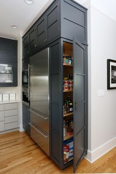 Narrower, but idea for cabinet on the side where pull-out pantry will be (in place of existing double oven)