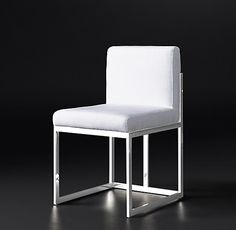 Wexler Side Chair Collection - Polished Stainless Steel | RH