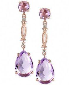 #SilverDropEarrings Buy Earrings, Sapphire Earrings, Gold Earrings, Lila Gold, Emerald Ring Vintage, Purple Quartz, Pink Amethyst, White Gold Diamonds, Rose Gold