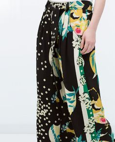 Image 4 of PRINTED TROUSERS from Zara