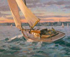 fine art, oil color, boat - Bing Images