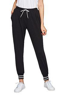 SLR Brands Womans Colorblock Pocket Casual Tie Waist Plush Yoga Jogger Pants