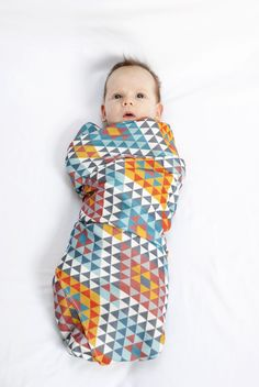 bamboo swaddle, ethnic print www.pinknomore.pl