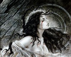 Unknown Artist Luis Royo painting is available for sale; this Unknown Artist Luis Royo art Painting is at a discount of off. Dark Fantasy Art, Fantasy Girl, Chica Fantasy, Fantasy Kunst, Dark Art, Fantasy Images, Fantasy Warrior, Dark Paintings, Fantasy Paintings