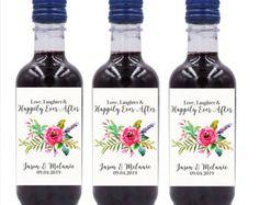 Cheap Wedding Mini Wine Bottle Labels, Custom mini wine bottle label stickers #BMW8