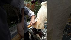 HOW TO WOODCARVE A PENGUIN-the rough outline