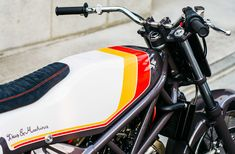 Based on a Honda and inspired by flat track racers, the Deus Ex Machina South Paw Motorcycle makes the most of its donor bike's. Bagger Motorcycle, Motorcycle Types, Motorcycle Travel, Cafe Racer Motorcycle, Motorcycle Design, Deus Ex Machina, Custom Motorcycles, Custom Bikes, Style Cafe Racer